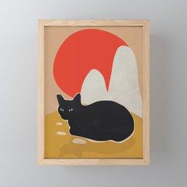 Cat Framed Mini Art Print