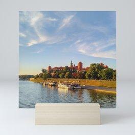 Magical Wawel Castle in Krakow - view from the bridge Mini Art Print
