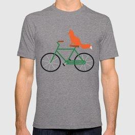 Fox Riding Bike T-shirt