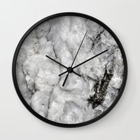 stone Wall Clocks featuring Stone by Olivia