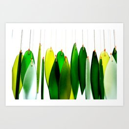 GlassLeaves Art Print