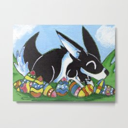 Easter Egg Bunny Metal Print