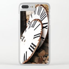 old tower clocks Clear iPhone Case