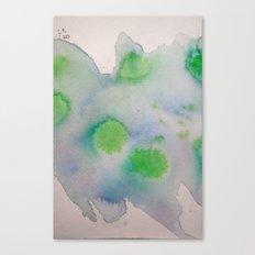 Lime Burst Canvas Print
