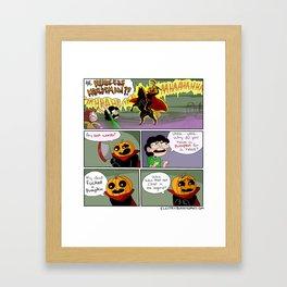 Pumpkin Boy Framed Art Print