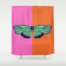 Hal Color Block Shower Curtain