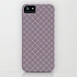 Beige Taupe Classic Diagonal Grid iPhone Case