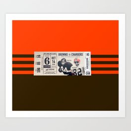 Ticket Stub - Browns v Chargers Art Print