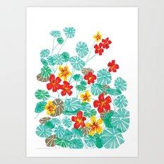 Nasturtiums Art Print