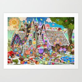 The Gingerbread Mansion Art Print