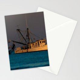 Tucker J fishing boat Stationery Cards