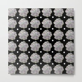 Succulent Blue Star Pattern Metal Print