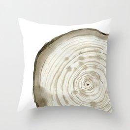 Tree cut Throw Pillow