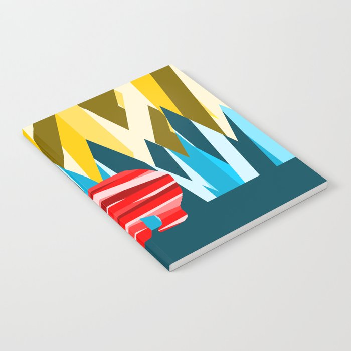 Abstract lines Bear Notebook