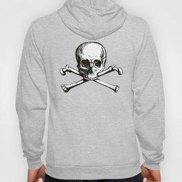 Skull and Crossbones | Jolly Roger | Pirate Flag | Black and White | Hoody