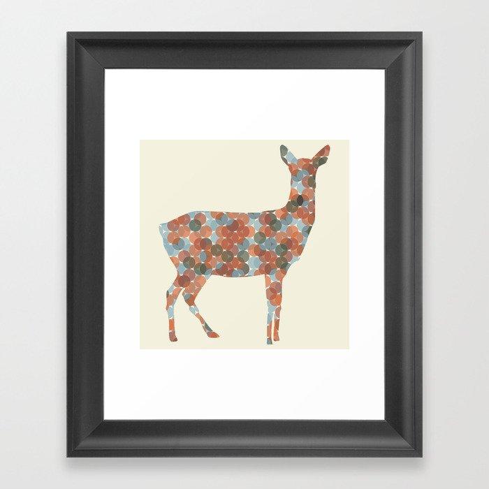 Autumn Doe Framed Art Print