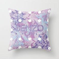 Benzo Pills Throw Pillow