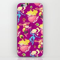 foo fighters iPhone & iPod Skins featuring Cute Fighters by AnnaMaria Coppi