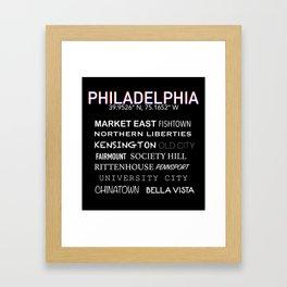 Neighborhoods in Philadelphia Framed Art Print