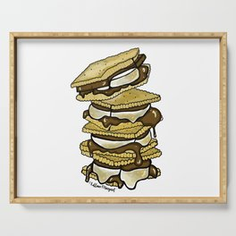 Stack of S'mores Serving Tray