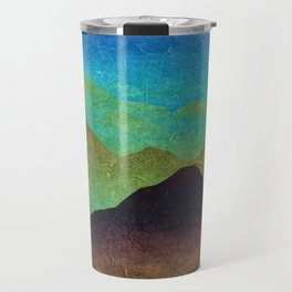 Through hilly lands and hollow lands Travel Mug