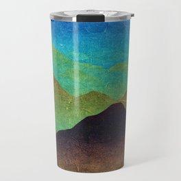 Through hilly lands and hollow lands Travel Mug