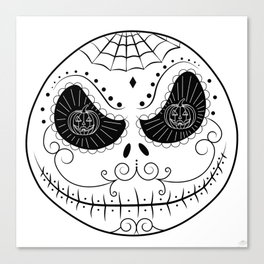 Jack's Skull Sugar (Vector Mexican Skull) Canvas Print