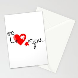 Me and You Missing Piece to my Heart Design Stationery Cards