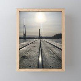 Walk on water Framed Mini Art Print