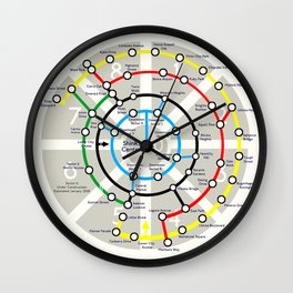 Final Fantasy VII - Midgar Mass Transit System Map Wall Clock
