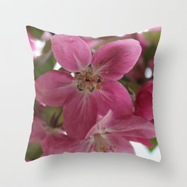 CrabApple Flowers Throw Pillow