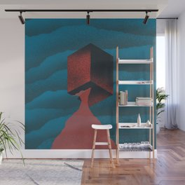RED CUBE Wall Mural
