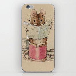 Beatrix Potter Tailor Mouse iPhone Skin