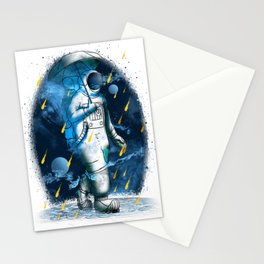 Meteor Shower Cosmic Downpour Astronaut Rain Stationery Cards