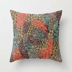 Ink Pattern no.2 Throw Pillow
