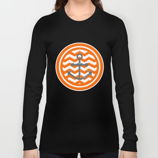 Chevron Anchor Long Sleeve T-shirt