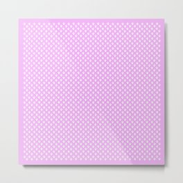 Tiny Paw Prints Pretty Pink Pattern Metal Print
