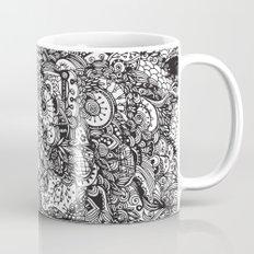 Detailed rectangle, black and white  Mug