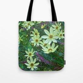 Whimsical Yellow Daisies Tote Bag