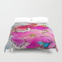 cherry blossom Duvet Covers featuring Cherry Blossom by Marcella Wylie