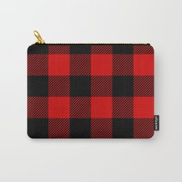 Red Lumberjack Pattern Carry-All Pouch
