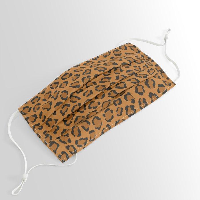 Dark leopard animal print Face Mask
