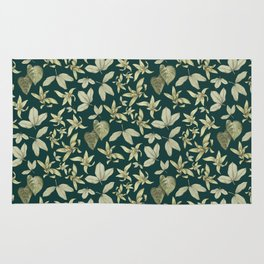 just a few leaves Rug
