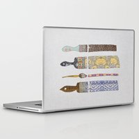 luna Laptop & iPad Skins featuring color your life by Bianca Green