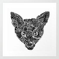 Complex Fox Art Print