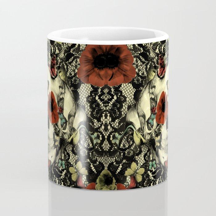 Vintage Gothic Lace Skull Coffee Mug