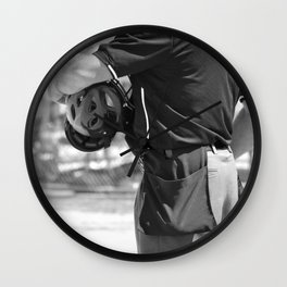 Umpire in Black and White Wall Clock