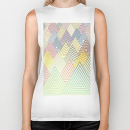 Pastel Mountains Biker Tank