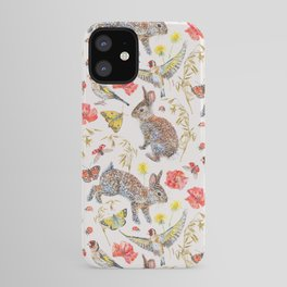 Bunny Meadow Pattern iPhone Case