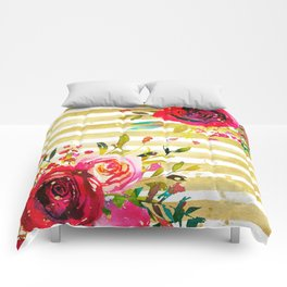 Flowers & Stripes 2 Comforters